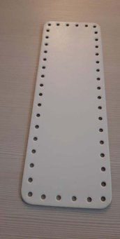 fondo per borse ecopelle bianco    10x30  cod 3