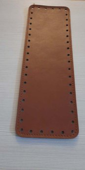 fondo per borse ecopelle marrone  10x30  cod 4