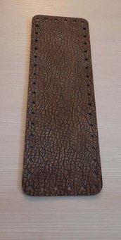 fondo per borse ecopelle marrone martellato 10x30  cod 8
