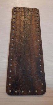 fondo per borse ecopelle marrone scuro  martellato 10x30  cod 10
