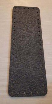 fondo per borse ecopelle grigio  martellato 10x30  cod 11