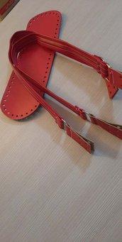 Kit fondo + manici rosso