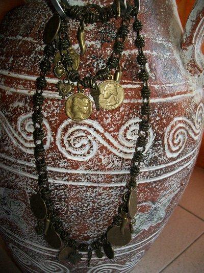 parure bronzo e charms