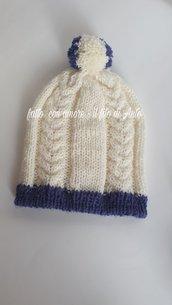 Cappello bambino in pura lana 100%