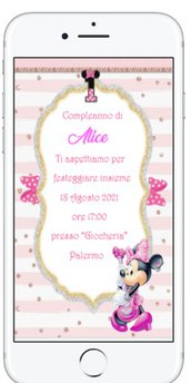 Invito Digitale 1 Anno Minnie 2021 in 12 ore