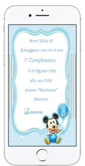 Invito Digitale 1 Anno Topolino 2021 in 12 ore