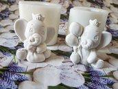 Stampo in silicone coppia elefantini