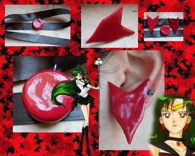 Collarino e orecchini di Sailor Pluto, offerta