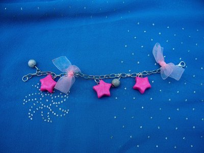 bracciale con stelline rosa