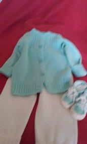 Completino bimbi lana maglia