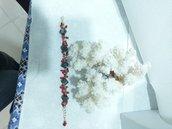 Bracciale corallo rosso Agata grigia mare elegante
