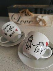 Tazzina da caffe dipinta a mano