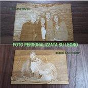 Foto Laserizzata su legno 20x15