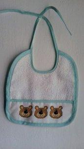 bavaglino neonato orsetti