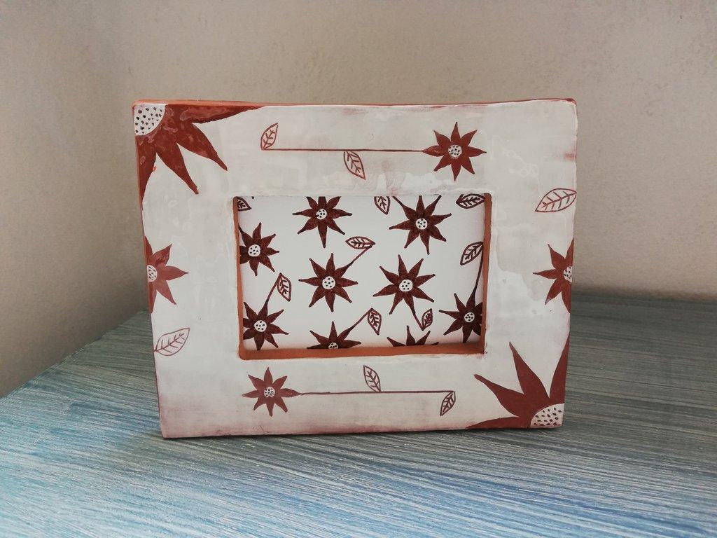 Cornice, portafoto, cornice in ceramica, cornicetta, portafoto in ceramica