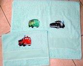 Coppia Asciugamani Cars da ricamare