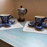 Set da caffè, piattino e tazzina, piattino in ceramica, tazzina in ceramica