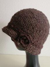 Cappello donna modello cloche marrone
