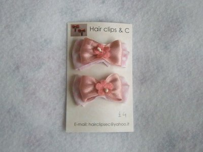 ribbons hairclips