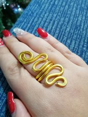 Anello snake oro
