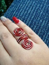 Anello wire rosso