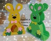 Fustellato coniglio porta dolci