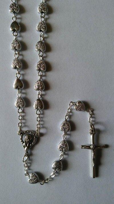 M438-Rosari grani Cuoricini Acrilici 6mm
