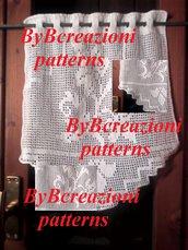 "Tenda curtain crochet cotone filet Pdf download Italy ""Edera"""