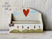Porta lettere in legno massello by Creazioni GiaRó Ⓒ