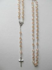 P38-Rosario in Biconi Swarovski 6 mm - Light Peach