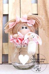 Barattolo con bambolina - Idea bomboniera
