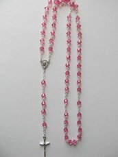 P41-Rosario in Biconi Swarovski 6 mm - Rose