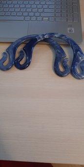 manici pipioca blu/bianco