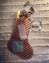 Calza della Befana - carta riciclata e stoffa