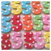 biscotti decorati per compleanno con numero