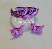 Cerchietto ed elastici con farfalle