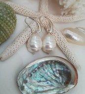 Orecchini perle di Maiorca bianche