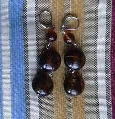 orecchini marroni