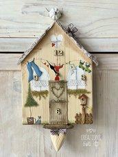 Orologio in legno massello by Creazioni GiaRó  Ⓒ