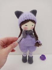 Bambola amigurumi  nanna, giocattolo per bimba.