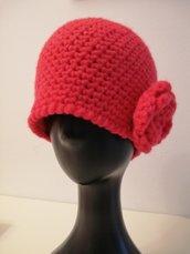Cappello donna rosso ciliegia