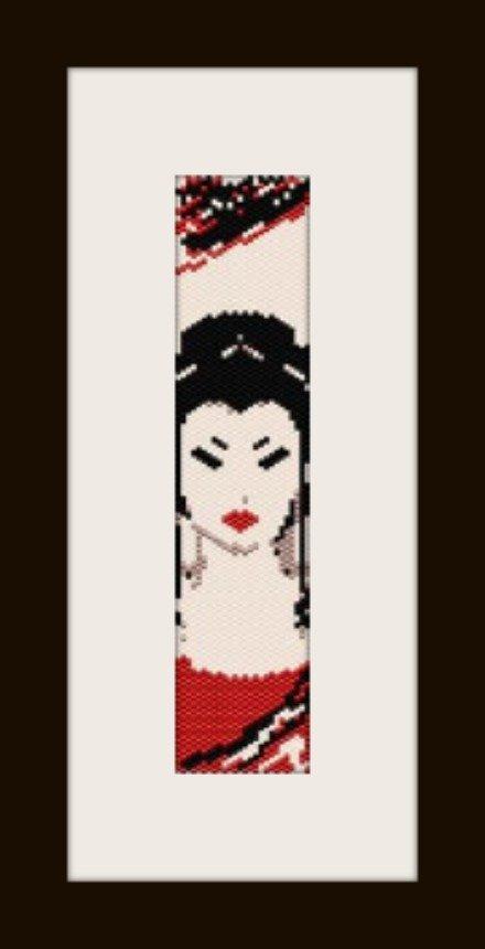 PDF schema bracciale geisha2 in stitch peyote pattern - solo per uso personale .