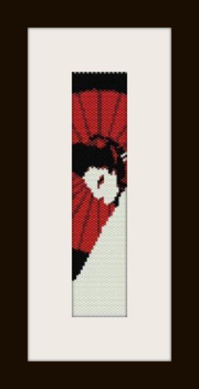 PDF schema bracciale geisha3 in stitch peyote pattern - solo per uso personale .