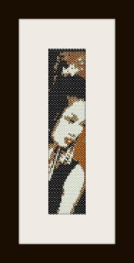 PDF schema bracciale geisha4 in stitch peyote pattern - solo per uso personale .