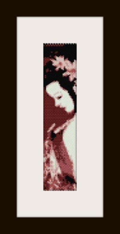 PDF schema bracciale geisha5 in stitch peyote pattern - solo per uso personale .