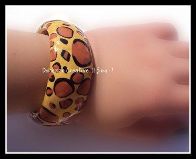 ★★SALDI Bangle Macchiato - bracciale  Giraffato