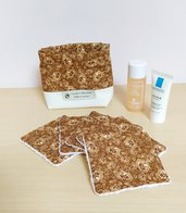Set di 5 salviette struccanti lavabili, pad ecofriendly, pad struccanti riutilizzabili, struccanti con bustina