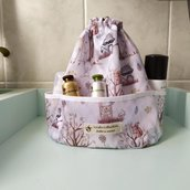 Beauty case con cuffia doccia, beauty case impermeabile, beauty da viaggio, beauty case