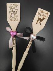 cucchiaio in legno personalizzato inciso con film, citazioni, ecc