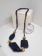Collana nero e oro